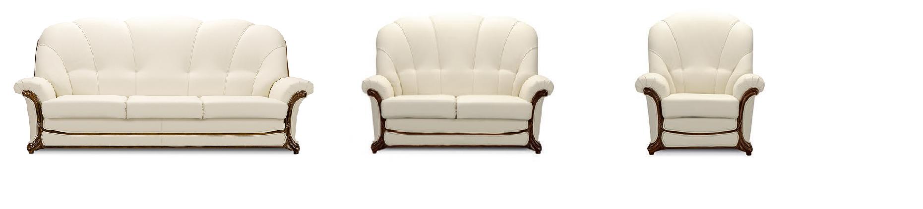 biela štýlová rustikálna sedacia súprava Georgia