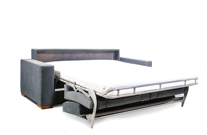 Sivá moderná rohová rozkladacia sedacia súprava Vanda