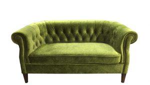 Oxford štýlové dvojkresielko zútulní každú domácnosť zelený
