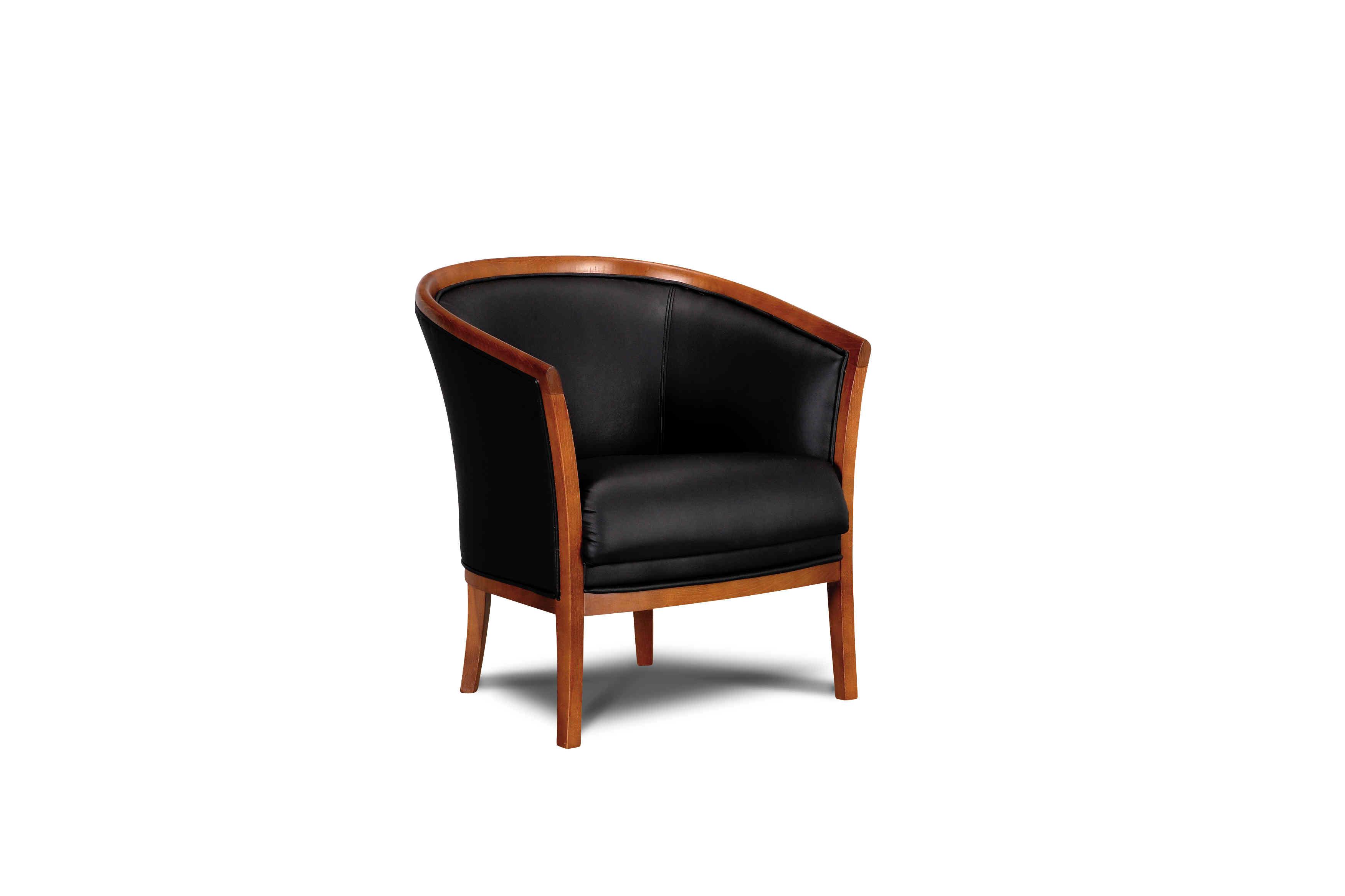 čierne klasické kresielko vhodné do hál, kaviarní, a hotelov - Roberto