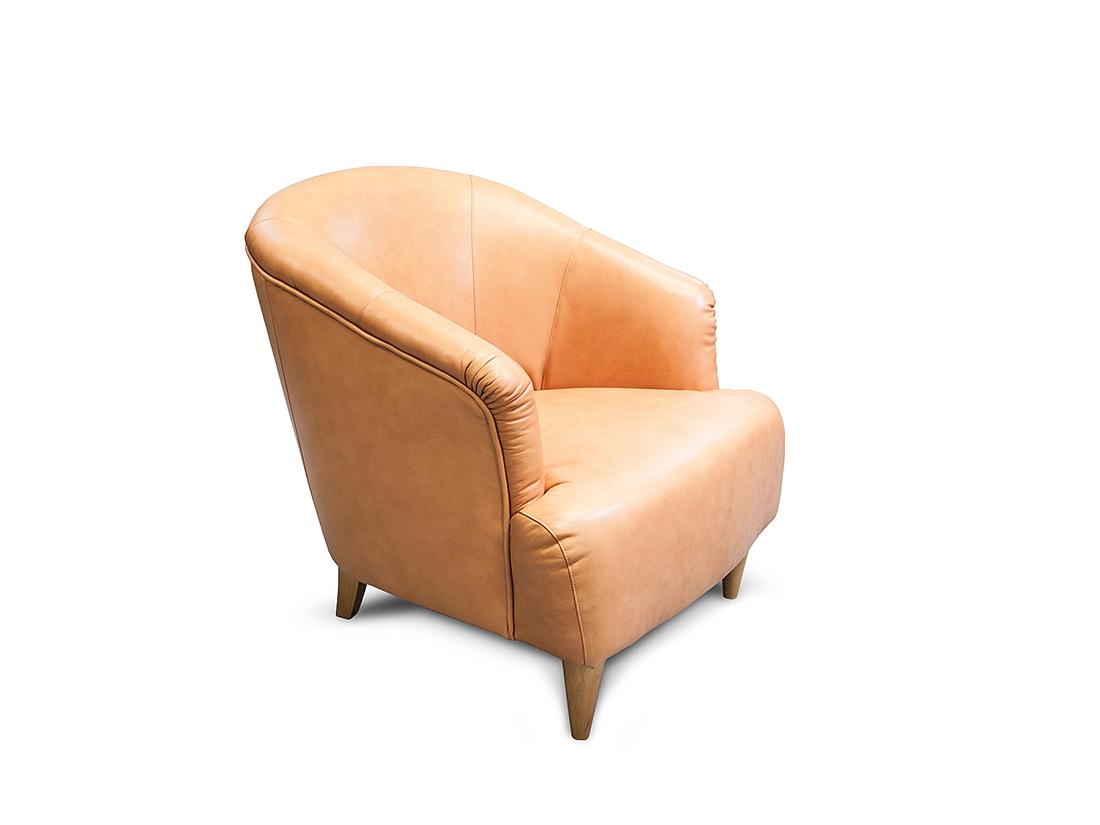 Pohodlné oranžové kresielko vhodné do kaviarní - Jeremy
