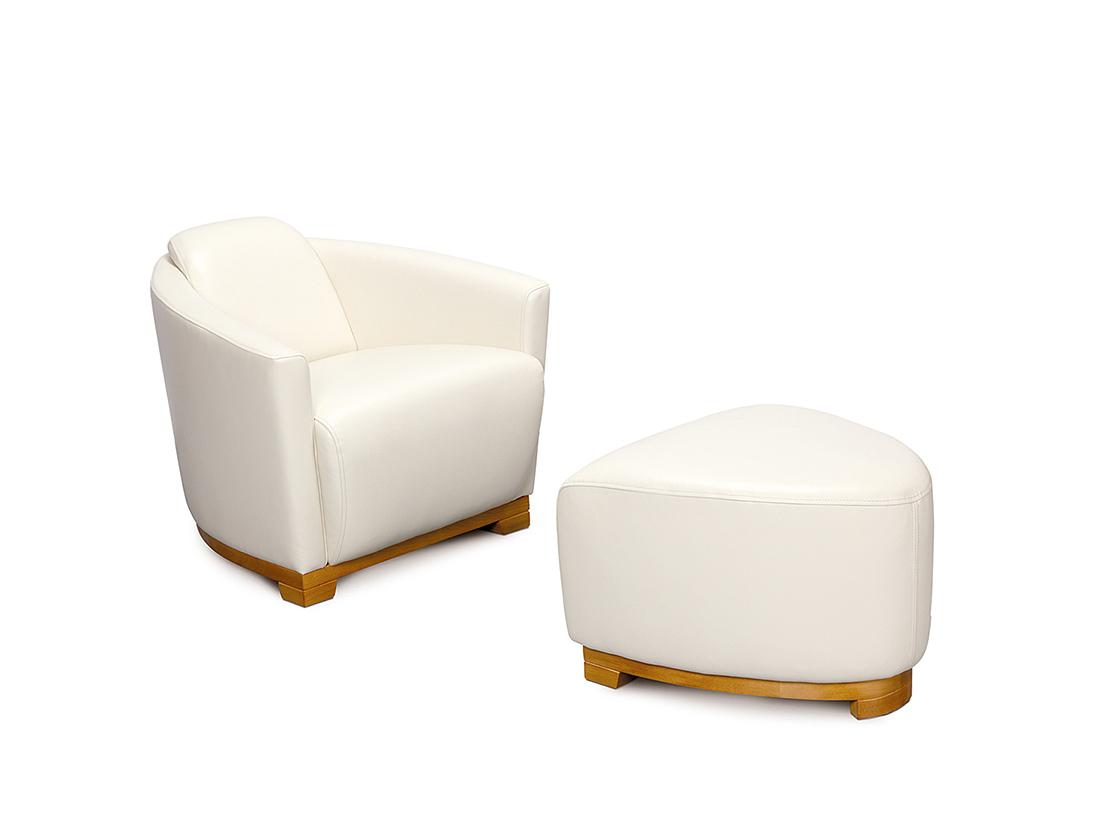 bielé moderné kresielko so zaujímavým dizajnom - Alan