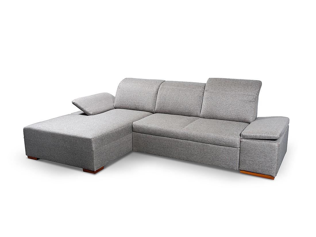 sivá moderná rohová sedacia súprava Timea