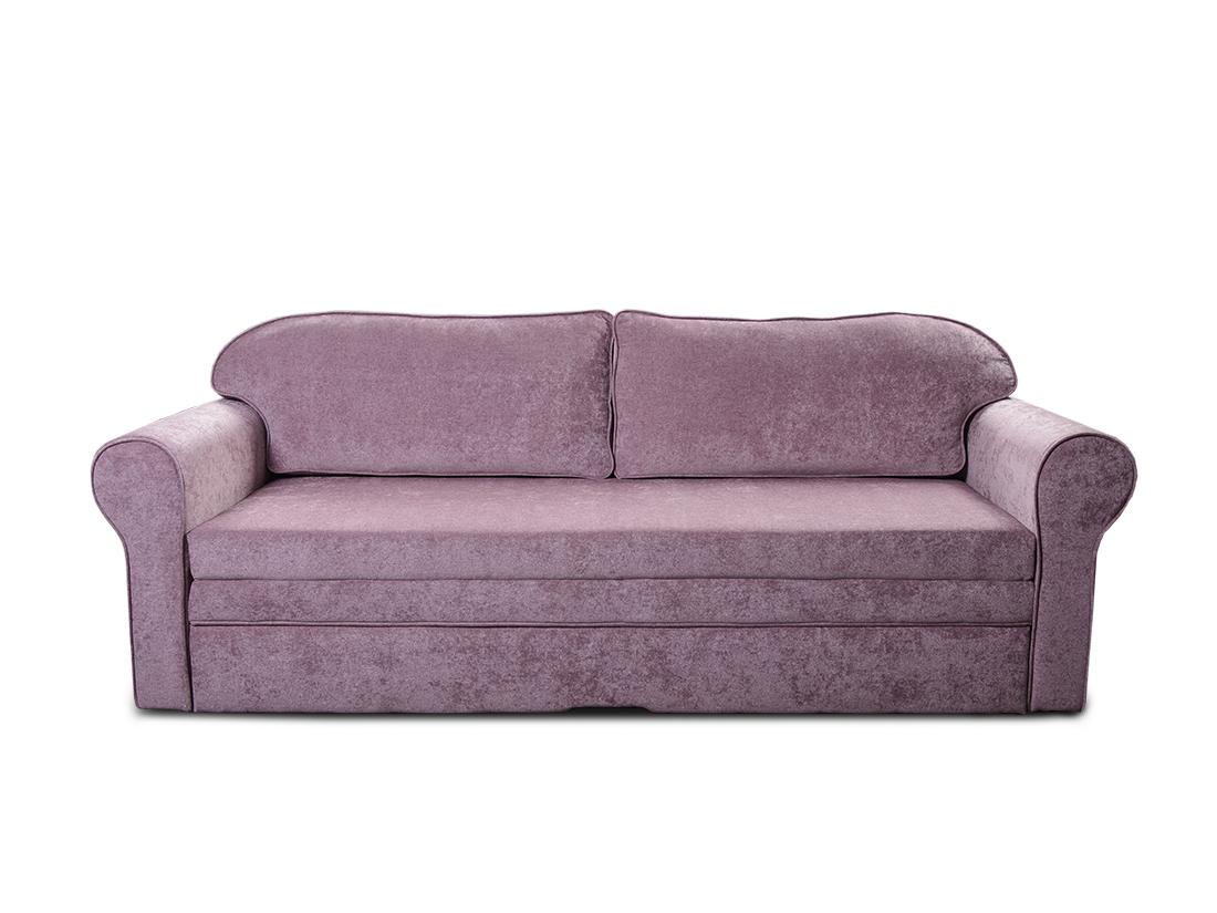 fialová rozkladacia pohovka s úložným priestorom Nora